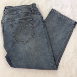 Chico's So Slimming Cropped Jeans Sz 2 (12) EUC